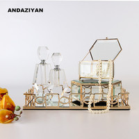 Modern minimalist tray ornaments bedside cabinet European jewelry box furnishings home decoration Your gift