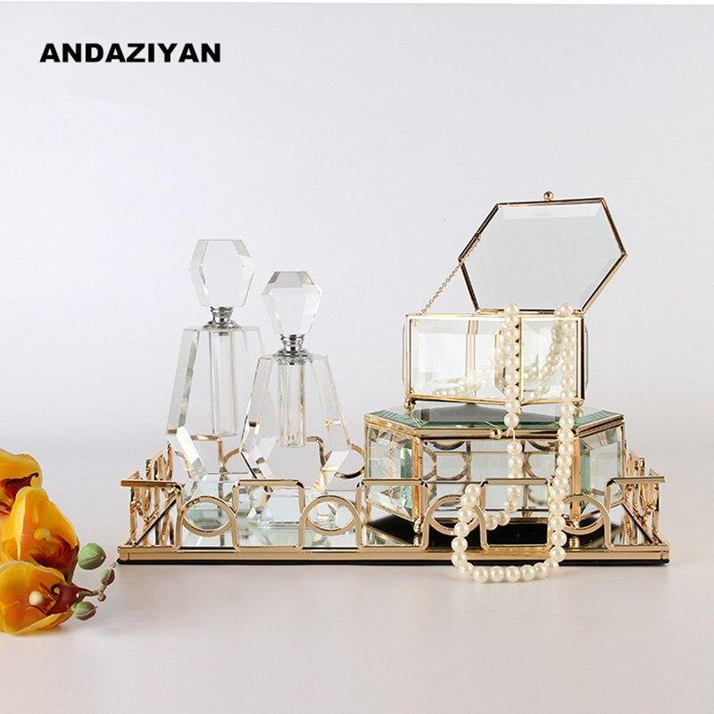 Moderne minimaliste plateau ornements chevet armoire européenne bijoux boîte ameublement décoration de la maison votre cadeau
