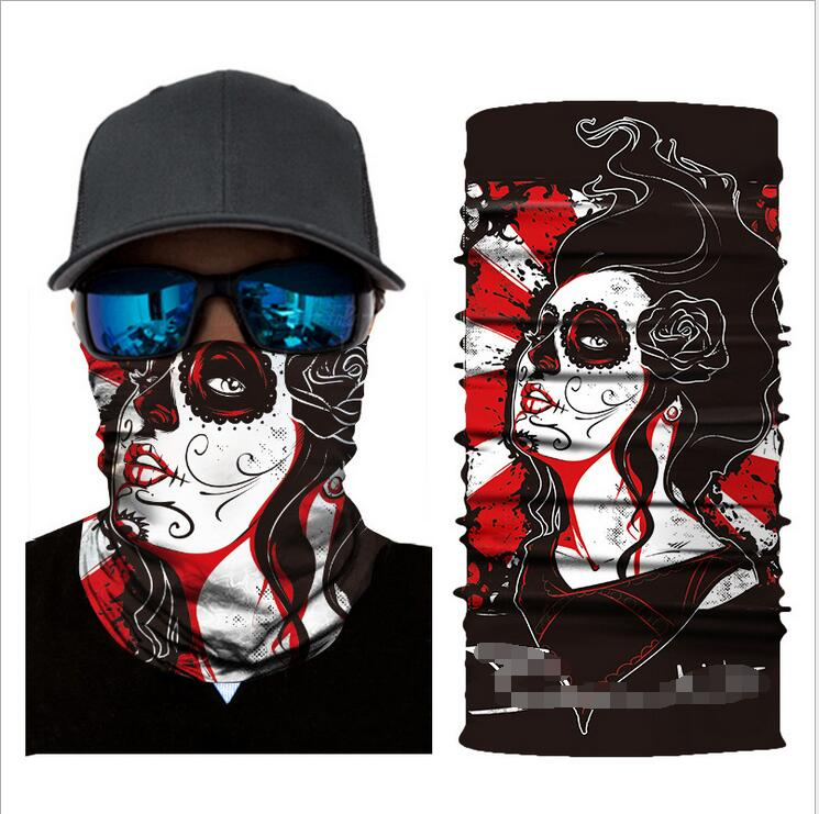Apparel Accessories 3d Digital Printing Personality Graffiti Halloween Riding Outdoor Sports Sunscreen Quick-drying Variety Magic Towel Aesthetic Appearance