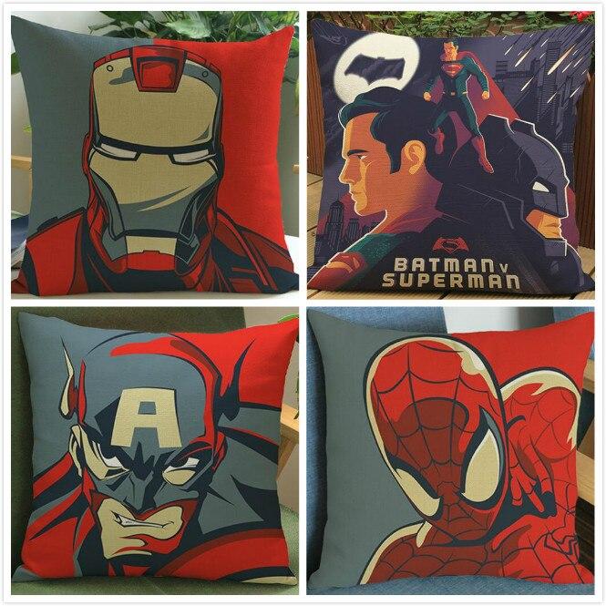 ツ)_/¯Super Hero Superman impreso Lino Fundas de colchón película