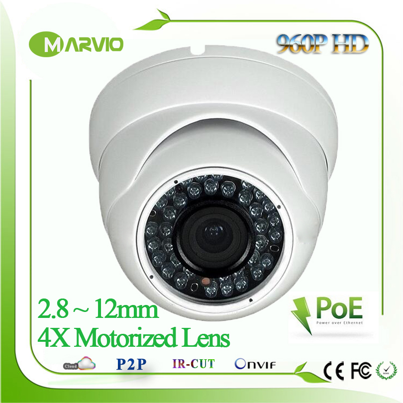 H.264 960P 1080P 2MP Full HD IMX322 Autofocal Motorized 2.8-12mm Zoom Lens Dome IP Network Camera POE Outdoor CCTV IPCam cam h 265 h 264 960p 1080p 4mp 2592 1520 motorized 2 8 12mm lens bullet network ip camera poe ipcam ip67 waterproof camara cctv