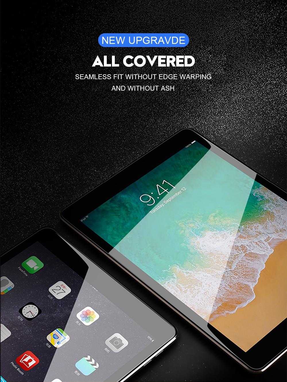 6D folia ochronna na ekran z zakrzywionymi krawędziami dla iPad Pro 11 10.5 9.7 ochronne szkło hartowane na dla iPad 2017 2018 powietrza 1 2 mini 2 3 4 8