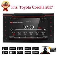 Bosion 2 din Car Audio 8HD Touch screen GPS Navi Bluetooth WIFI DVD multimedia car radio Player for Toyota Corolla 2017