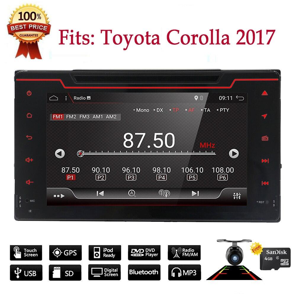 Bosion 2 din Voiture Audio 8 HD écran Tactile GPS Navi Bluetooth WIFI DVD multimédia autoradio Lecteur pour toyota Corolla 2017