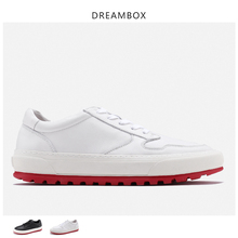 man shoes leather genuine red bottom 2019 white sneakers men chunky mans