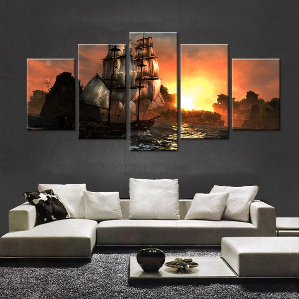 Compare prices on large sail boat online shopping buy low for Ship decor home
