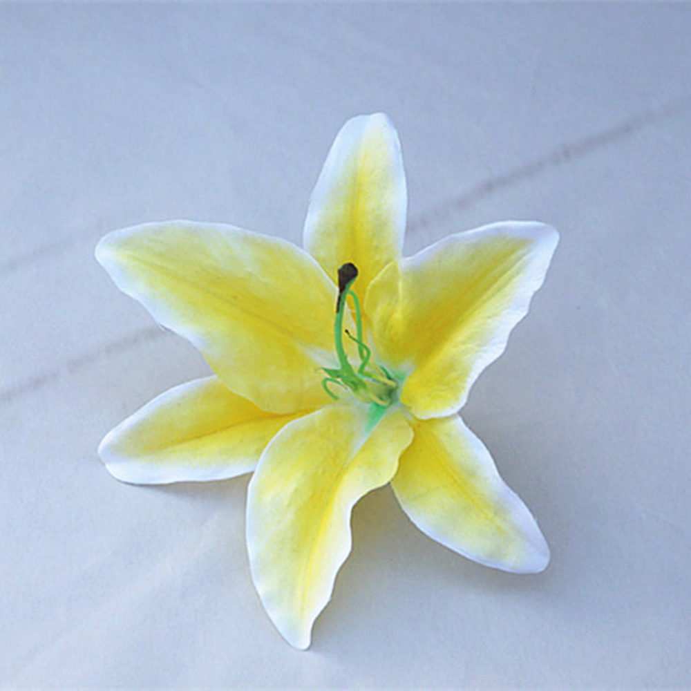 Cheap 50pcslot high quality 17cm white lily head plastic artificial cheap 50pcslot high quality 17cm white lily head plastic artificial flower for wedding party decoration home decor flowers in artificial dried flowers izmirmasajfo