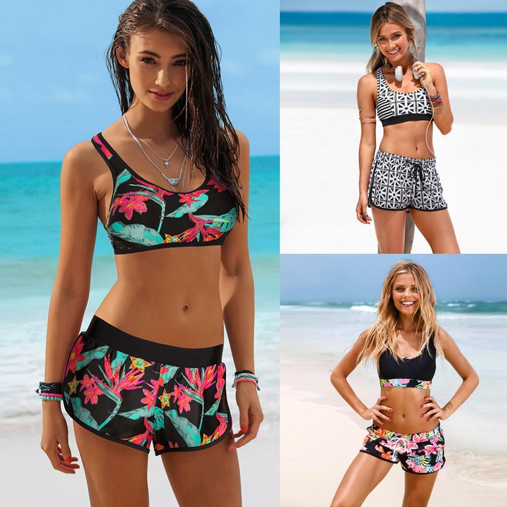 Swimsuit Woman 2018 Womens Girls Lady Costume Padded Swimsuit Monokini Swimwear Bikini Set Beachwear bikini 2018 Sexy 15 все цены