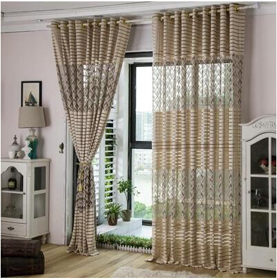 Decoration Tulle Yarn Voile Blind Curtains For Living Room European