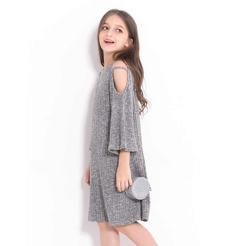 a894ff1726033 Detail Feedback Questions about Teenage Girls Dress 6 8 10 12 14 Years  European style Off shoulder A line Dress Big Girls Clothes Autumn Winter  Kids ...