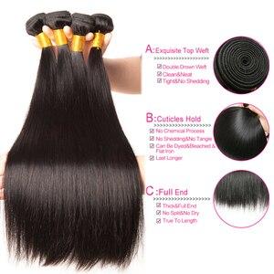 Image 2 - ストレート髪のバンドル生インドの髪織りバンドル 100% 人毛バンドルナチュラルブラックヘアエクステンション beyo remy 毛 10A