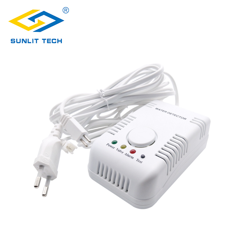 Portable Water Detector Flood Detection Sensor Leak Alarm with Sensitive Water Cable and Valve Connection Cable high quality electronic water leak detector with 1 2 valve and 2pcs 6m sensor wires retail or wholesale drop shipping