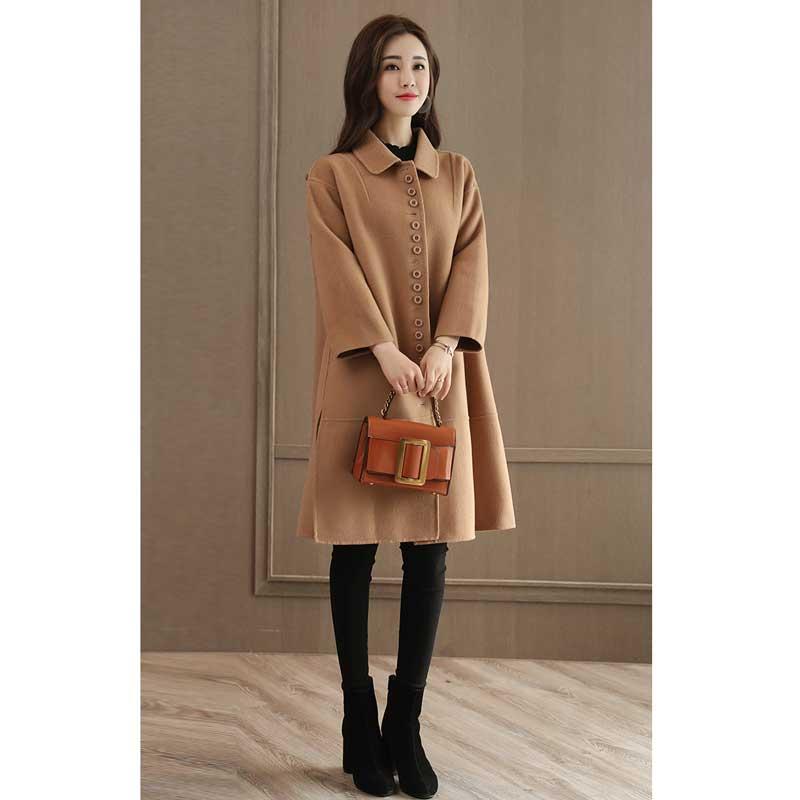Casual Manteau Le Confortable Femmes Coréenne Nouvelle Coton Tranchée Lâche Version De Plus camel Nizi Black Rembourré D'hiver Color Minceur Z005 Laine 2017 6xwaqpYvv