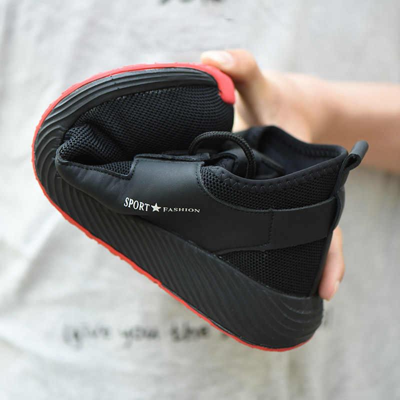 ROXDIA מותג בתוספת גודל 36-46 פלדה חרטום נעל גברים נשים עבודה ובטיחות אופנה קל משקל סניקרס מקרית זכר נעלי RXM124