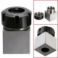 Hard Steel ER 32 Square Collet Chuck Block Holder 3900 5124 45x65mm For CNC Lathe Engraving