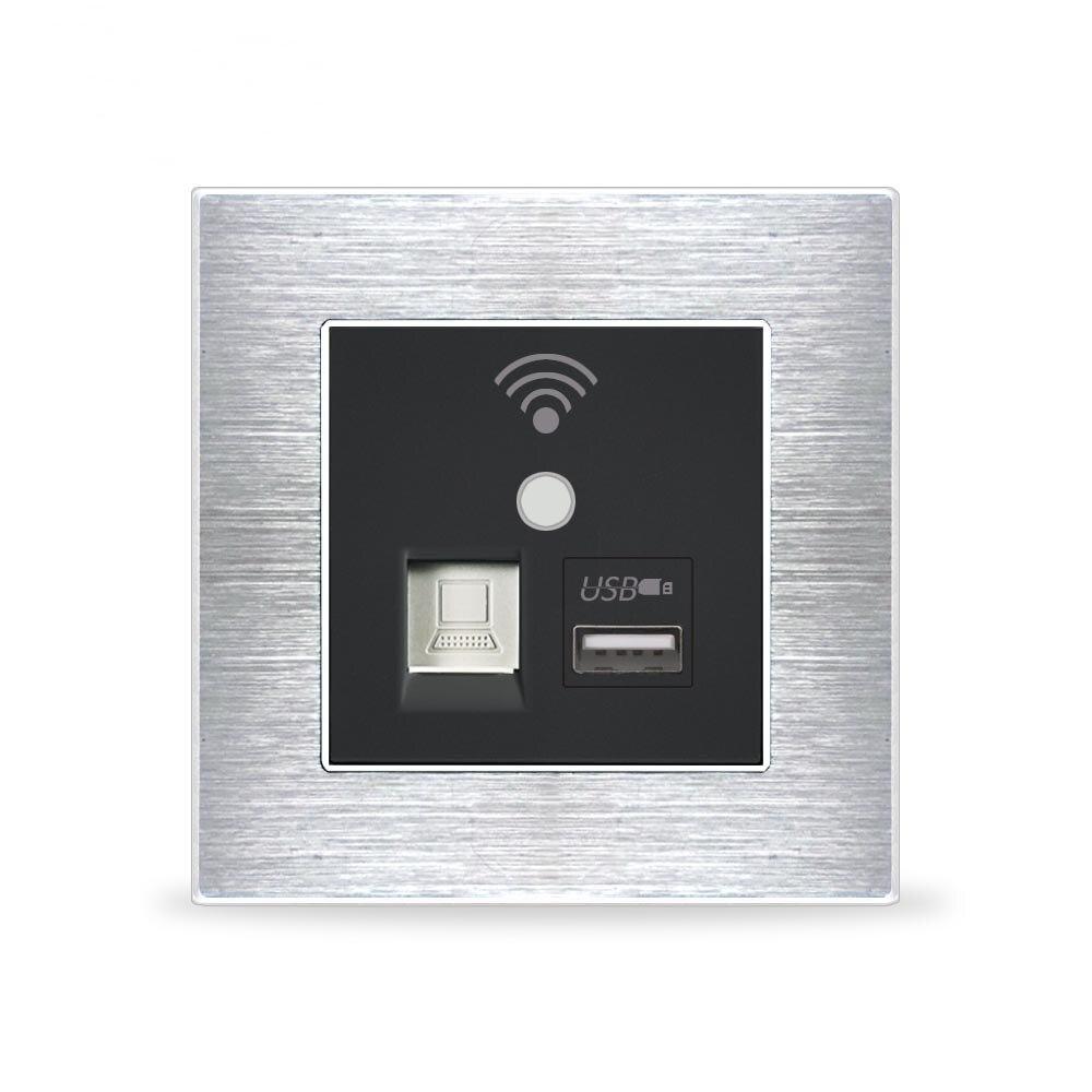 Mur intégré sans fil WIFI AP routeur téléphone prise USB prise murale chargeur WiFi prise intelligente électrique USB prises murales répéta
