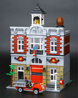 Lepin 15004 2313Pcs City Street Fire Brigade Educational Model Blocks Bricks Toy Compatible 10197