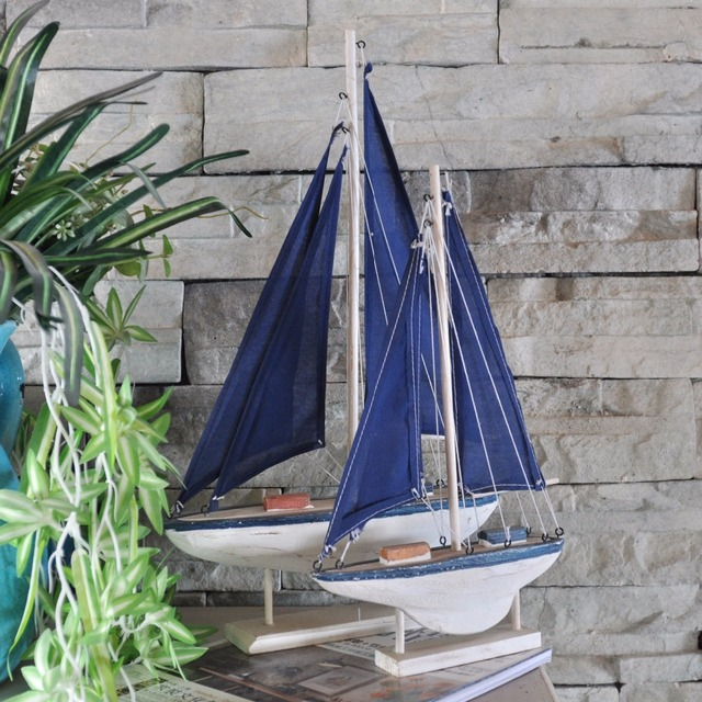 Wooden Sailing Ship Figurine 4