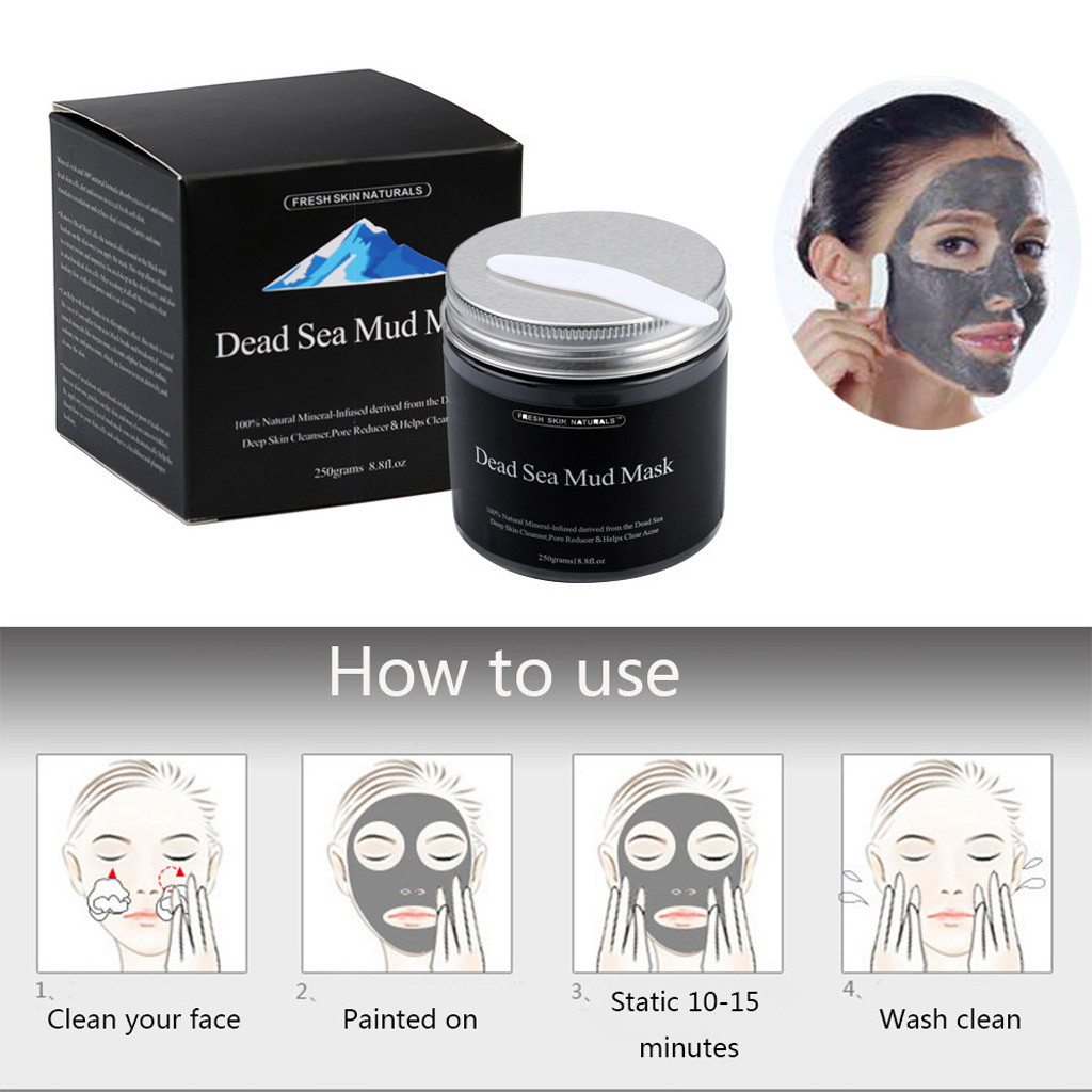 2019 New Fashion Pure Body Naturals Beauty Face Dead Sea Mud Mask For Facial Treatment 250G Maquiagem Drop Shipping