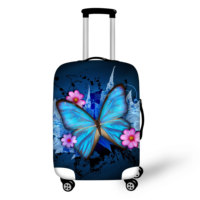 ELVISWORDS Butterfly Print Suitcase Protective Covers for 18 30Inch Case Stretch Trolley Dust Cover Elastic Travel Luggage Cover