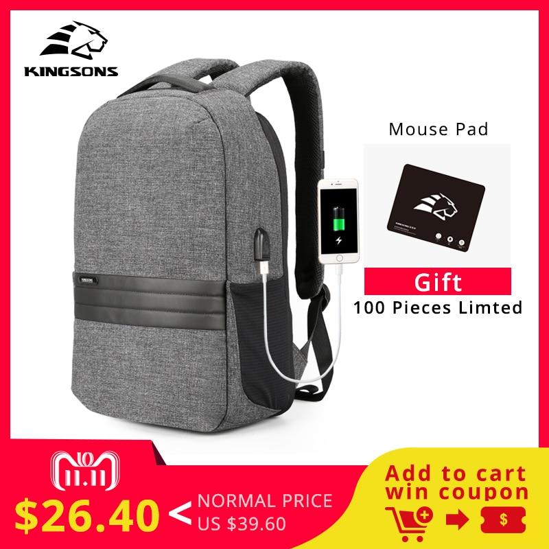 e6182719046e Kingsons Men Backpack 15.6 inches Shoulder Bags in Men s Casual Daypacks  for Business Laptop Backpack USB