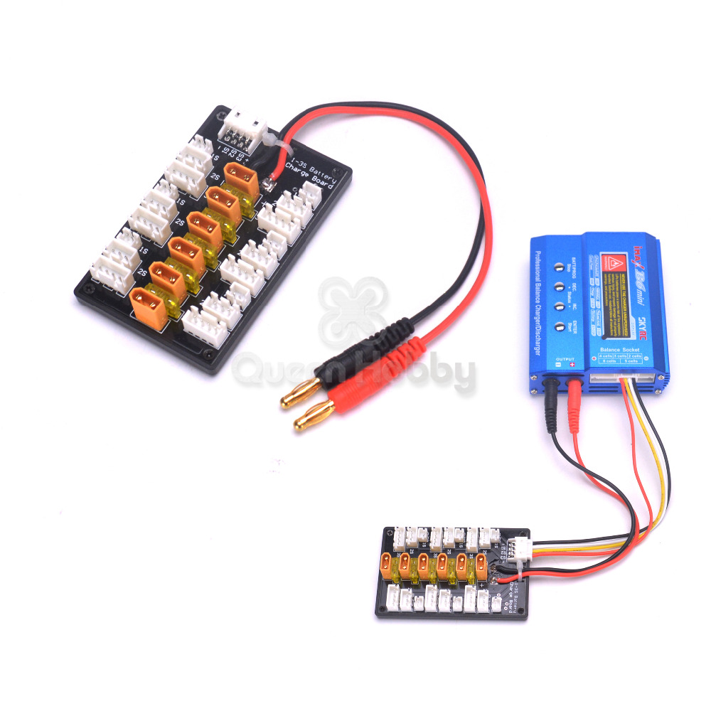 High Quality 2s 6s Xt60 Plug Parallel Charging Board Para Wiring Batteries In 1 3s Xt30 Lipo Battery For Imax B6 Mini B6ac