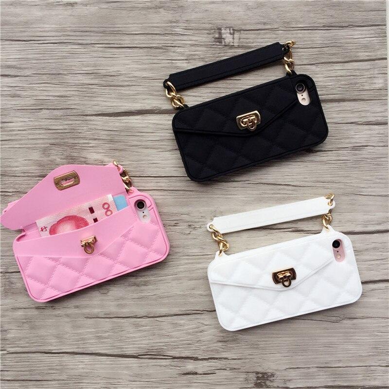 Lyxigt märke Plånbokskortsväska Bärbar handväska mjuk - Reservdelar och tillbehör för mobiltelefoner - Foto 3