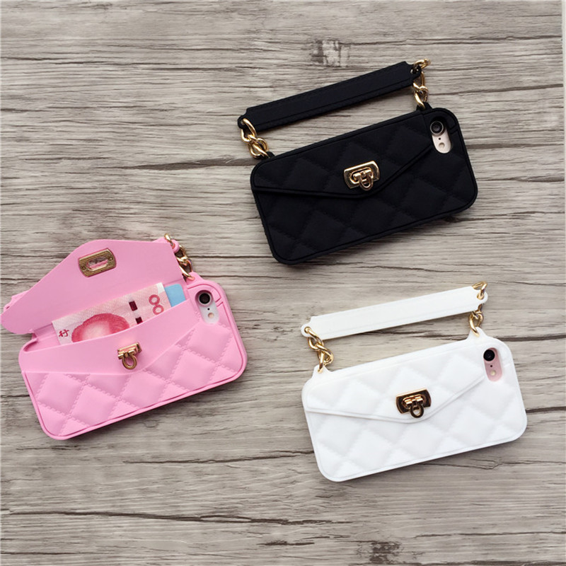 New Luxury brand Wallet Card Pouch Portable Handbag soft silicon Phone Case  For Iphone xs max 491319058e56
