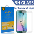 Tomoral 9 h limpar vidro curvo temperado vidro protetor de tela para samsung galaxy s6 edge g925 g925f g925a 3d cobertura completa