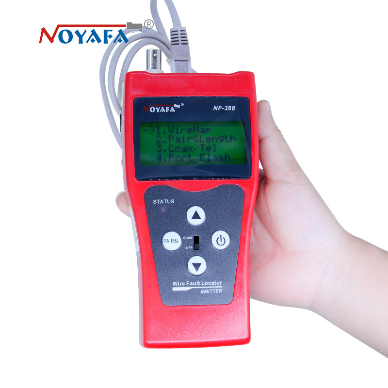 Testeur de câble réseau traqueur de câble RJ45 testeur de câble NF-388 version anglaise testeur de câble Audio couleur rouge NF_388 - 2