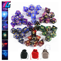 Delicate Galaxy Dice 6sets 7 Pieces Role Playing Game Table Board Game Portable Dice Man Gift Christmas Gift Party favor