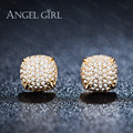 Angel Girl Fashion Classic Lady High Gold Plated Crystal CZ Jewelry Stud Earrings For Women Girls Gift wedding earrings GIFT