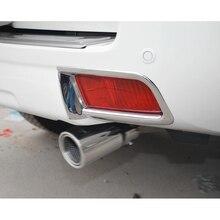 Per Toyota Prado FJ150 FJ 150 2010-17 Car Styling ABS Cromo Esterno Posteriore Copertura Della Luce di Nebbia Trim Auto accessori 2 pz