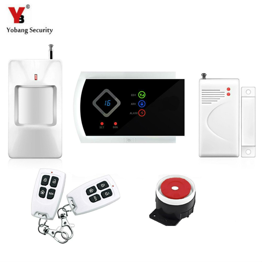 Yobang Security-Multi-Language APP GSM Wireless Home Security Alarm Systems Window/Door Sensor PIR Motion Detection Alarma yobang security ios android app wifi gsm wireless blue siren security ip camera alarm system smart mini pir door open alarma