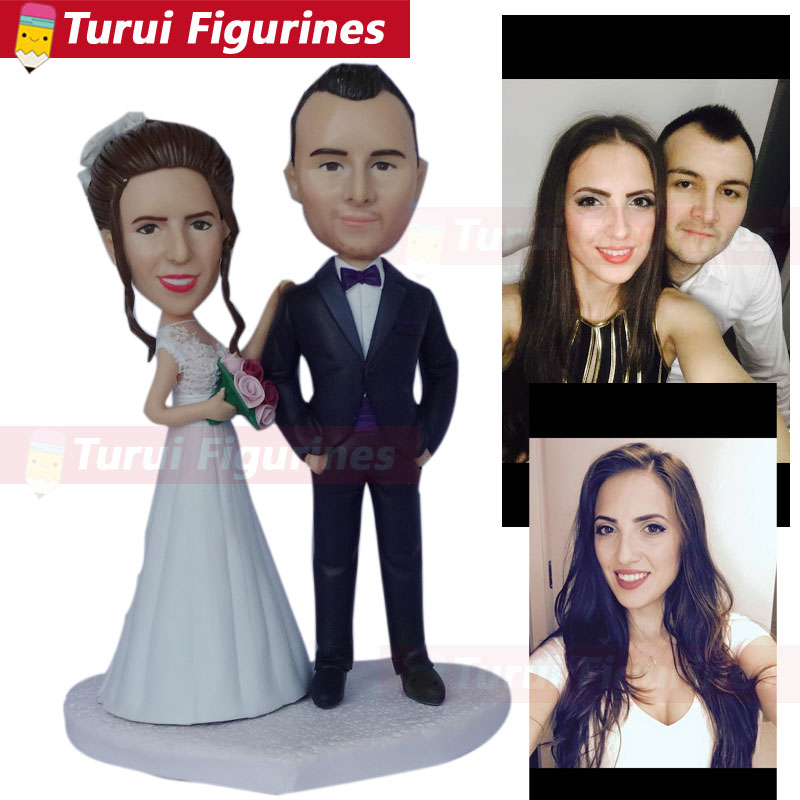 Bobble Head Figures Collectible Figurines Wedding Cake Topper Custom Costume Clothing Personalized Bobblehead Dolls Figurines