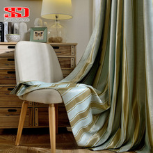 Современные затемненные занавески в полоску для гостиной, роскошные жаккардовые занавески для спальни, занавески на окна, затемненная ткань