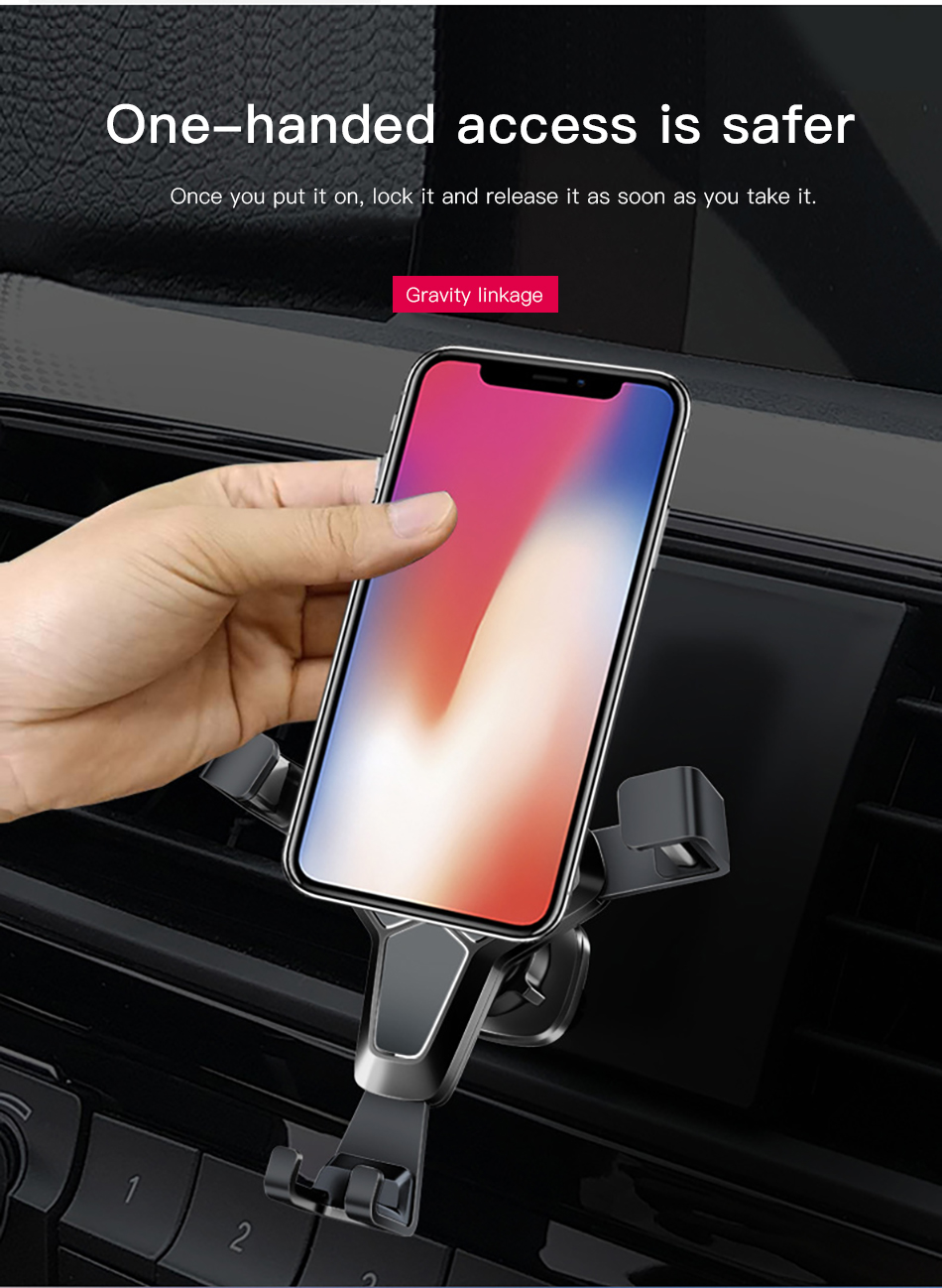 !ACCEZZ Gravity Car Phone Holder Stand Air Vent 360 Degree Rotation Universal 4-7 inches For iphone Xiaomi Samsung Auto Bracket (4)