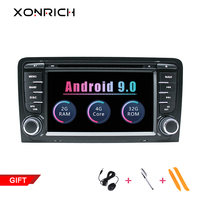 2 Din Android 9.0 Car Multimedia Player AutoRadio For Audi A3 8P S3 RS3 Sportback 2003 2004 2005 2006 2007 2008 2009 2010 2011