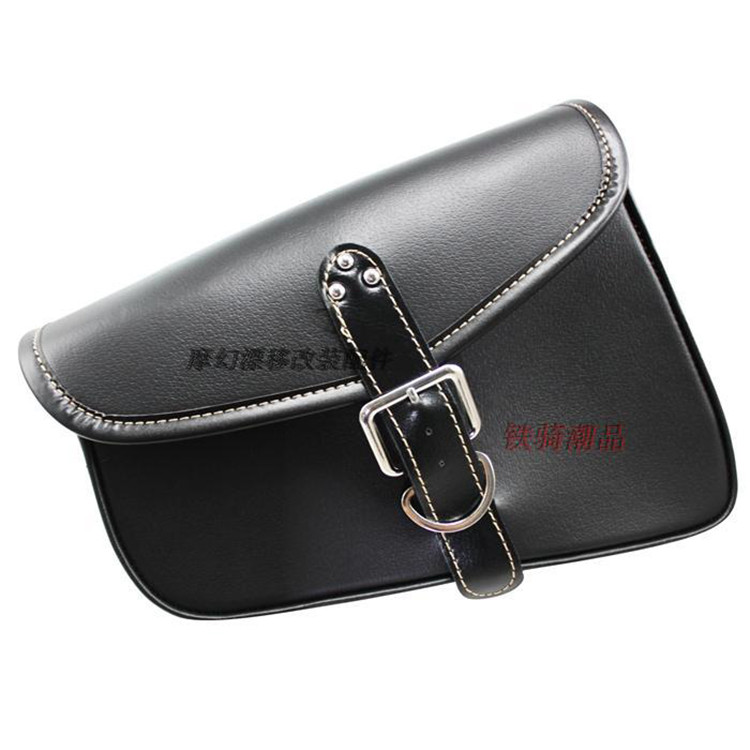 brand black PU Leather scooter side bag for harley bag motorcycle Saddle Bag for Harley Davidson XL883 1200 X48 moto luggage