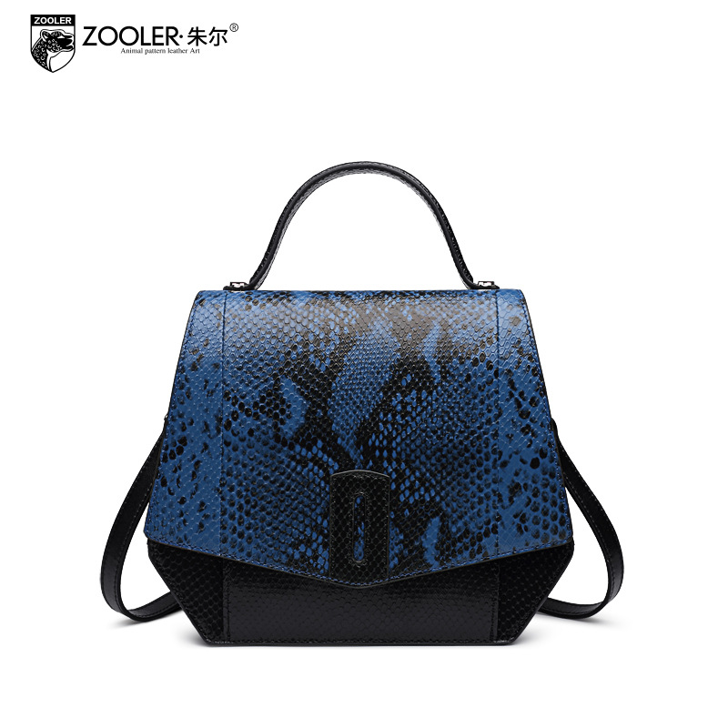ZOOLER Genuine Leather Tote Bags Handbags Women Famous Brands Messenger Bag 2017 Female Small Serpentine Pattern Shoulder Bag zooler fashion genuine leather crossbody bags handbags women famous brands female messenger bags lady small tote bag sac a main
