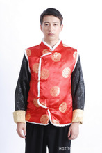 Chinese Traditional Costume Mens  Satin Waistcoat Winter Vest Size S to 2XL