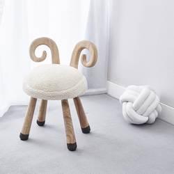 Натуральный дуб Деревянный животных овец дети стул домашняя мебель, деревянный диван подарок на день рождения Nordic стиль Детские Декор