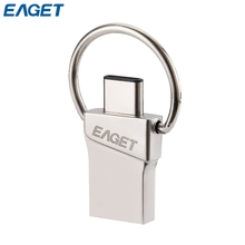 EAGET Type-C Flash Disk USB 3.0 16GB 32GB 64GB Mini Storage Memory Stick Micro USB Flash Driver for Phones and Tablets