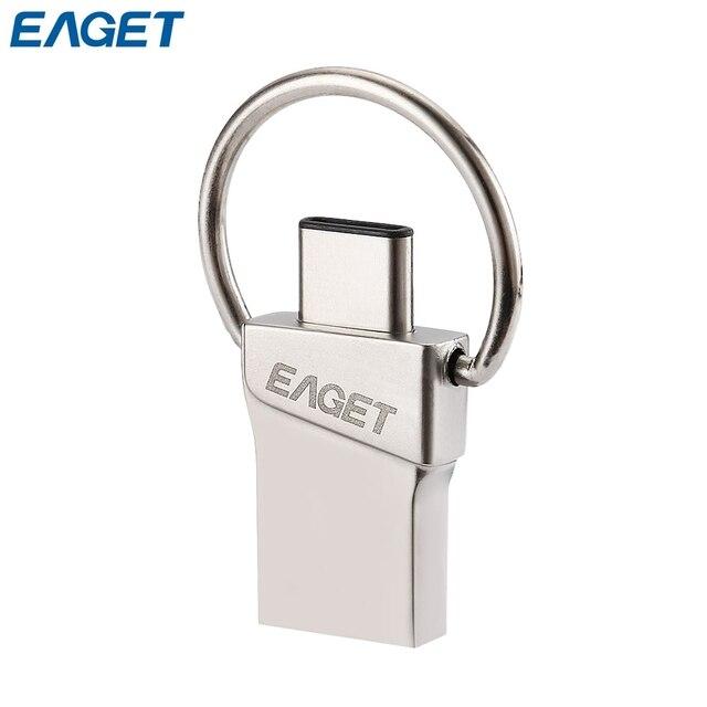Tipo-c eaget disco flash usb 3.0 16 gb 32 gb 64 gb mini controlador flash de almacenamiento memory stick micro usb para los teléfonos y tabletas