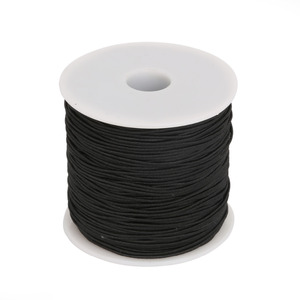 High Stretch Round Elastic Cord Rubber Band For Clothing/Garment Sewing Accessories Width 0.8mm 1mm 1.2mm 1.5mm Black Red Brown(China)