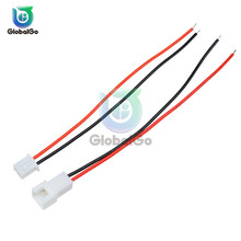 2 Pair XH2.54 XH 2.54mm JST 2.5MM 2PIN Wire Cable Connector Male Female Plug Socket Wire 26AWG 24AWG 10CM 12CM Battery Charging цена