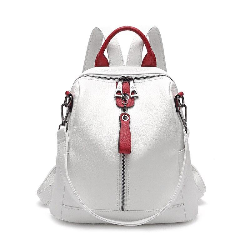 Multifunctional Women Backpack Soft Leather Bag Pack Female Fashion Casual Travel Backpack Mochila Feminina  School Bags