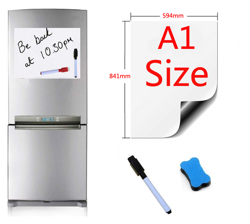 A1 Size 594x841mm Magnetic Whiteboard Fridge Magnets Presentation Boards Home Kitchen Message Boards Writing Sticker 1pen1eraserA1 Size 594x841mm Magnetic Whiteboard Fridge Magnets Presentation Boards Home Kitchen Message Boards Writing Sticker 1pen1eraser