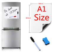 A1 Size 594x841mm Magnetic Whiteboard Fridge Magnets Presentation Boards Home Kitchen Message Boards Writing Sticker 1pen1eraser