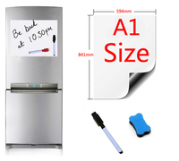 A1 Size 594x841mm Magnetic Whiteboard Fridge Magnets Presentation Boards Home Kitchen Message Boards Writing Sticker 1pen1eraser